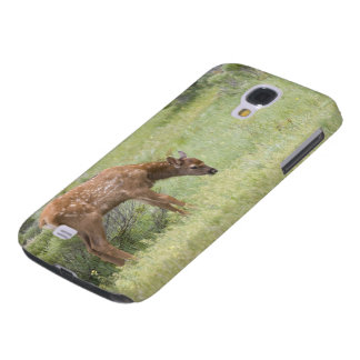 WY, Yellowstone National Park, Elk calf in Galaxy S4 Case