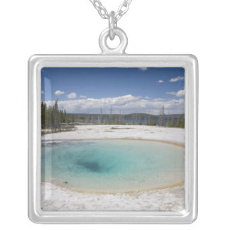 WY, Yellowstone National Park, West Thumb Geyser Necklaces