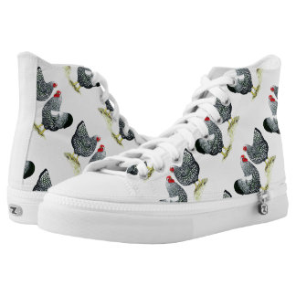 Wyandottes Silver-laced Pair Printed Shoes
