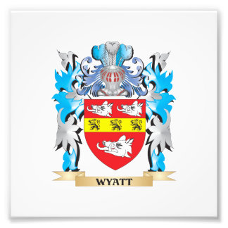 Wyatt Coat of Arms - Family Crest Photographic Print