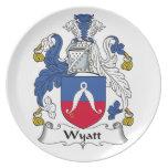 Wyatt Family Crest Dinner Plates
