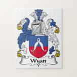 Wyatt Family Crest Jigsaw Puzzles