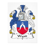 Wyatt Family Crest Personalized Invitations