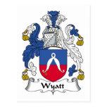 Wyatt Family Crest Post Card