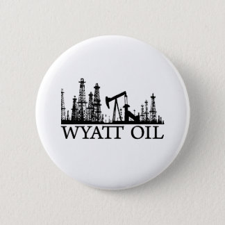 Wyatt Oil / Black Logo 6 Cm Round Badge