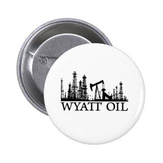 Wyatt Oil / Black Logo 6 Cm Round Badge