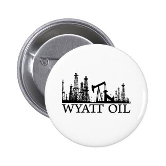 Wyatt Oil / Black Logo Pinback Buttons