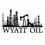 Wyatt Oil / Black Logo Postcard