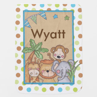 Wyatt's Jungle Blanket Swaddle Blankets