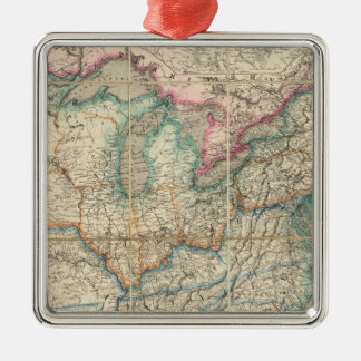 Wyld s Military Map Of The United States Christmas Ornament