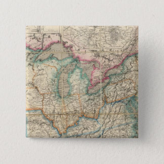 Wyld's Military Map Of The United States 15 Cm Square Badge