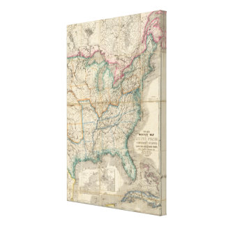 Wyld's Military Map Of The United States Canvas Print
