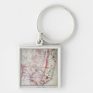 Wyld's Military Sketch of Zululand, 1879 Key Ring