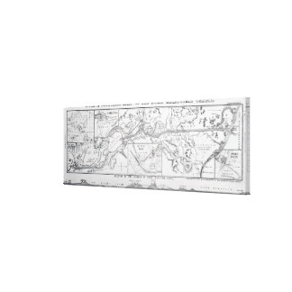 Wyld's Official Map of the Suez Maritime Canal Canvas Print