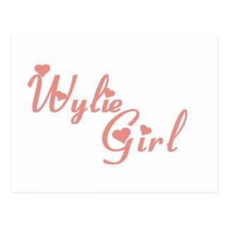 Wylie Girl tee shirts Post Card