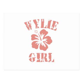Wylie Pink Girl Postcard