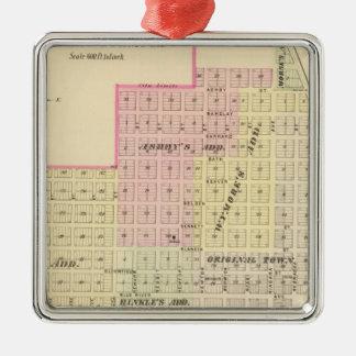 Wymore and Filley, Nebraska Silver-Colored Square Decoration