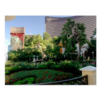 Wynn hotel and casino garden postcard