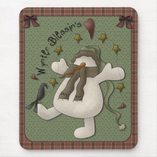Wynter Blessin's Snowman Mousepad