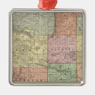 Wyoming 3 Silver-Colored square decoration