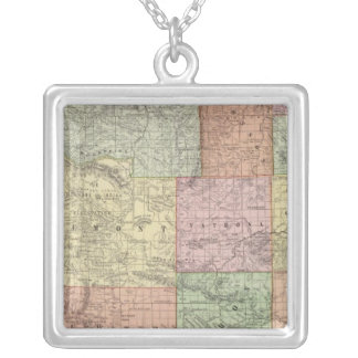 Wyoming 3 silver plated necklace