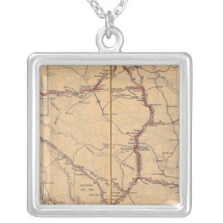Wyoming 4 silver plated necklace