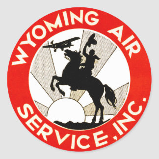 Wyoming Air Service Classic Round Sticker