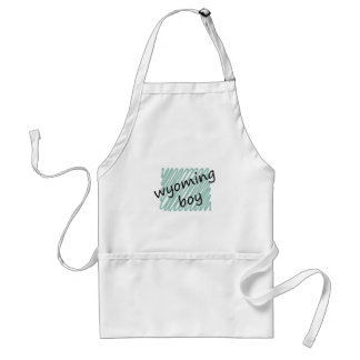 Wyoming Boy on Child's Wyoming Map Drawing Standard Apron