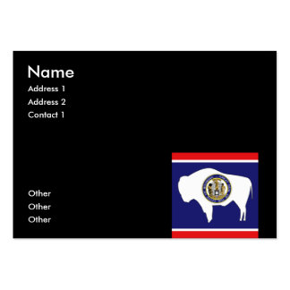WYOMING LARGE BUSINESS CARDS (Pack OF 100)