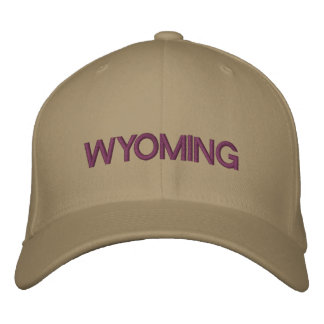 Wyoming Cap Embroidered Hats