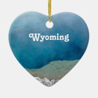 Wyoming Ceramic Heart Decoration