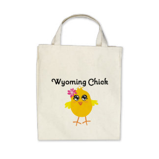Wyoming Chick Canvas Bags