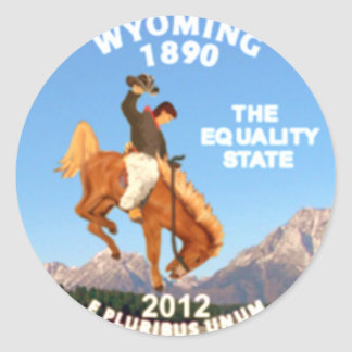Wyoming Classic Round Sticker