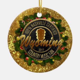 Wyoming Country Music Fan Christmas Ornament