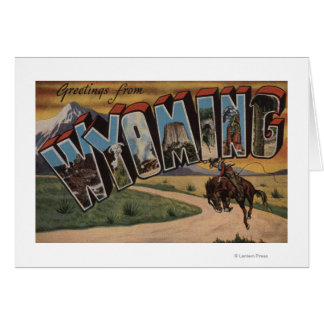 Wyoming (Cowboy)Large Letter ScenesWyoming Card