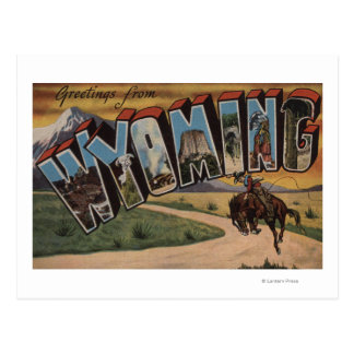 Wyoming (Cowboy)Large Letter ScenesWyoming Postcard