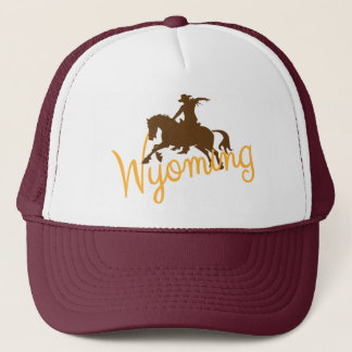 Wyoming Cowboy Trucker Hat
