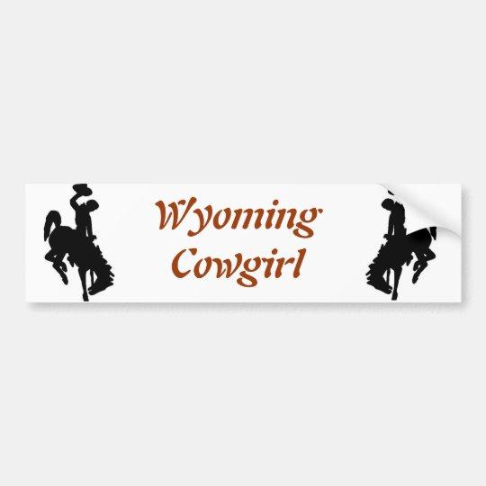 Wyoming Cowgirl Bumper Sticker