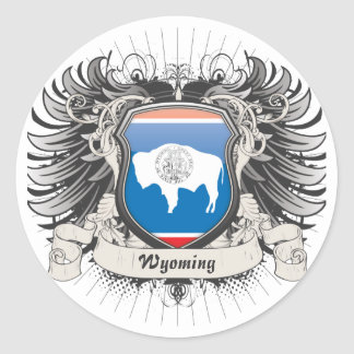 Wyoming Crest Classic Round Sticker
