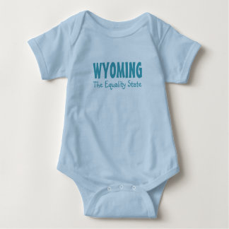 WYOMING custom text clothing Baby Bodysuit