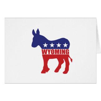 Wyoming Democrat Donkey Greeting Card