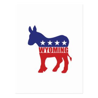 Wyoming Democrat Donkey Postcard