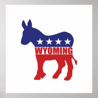 Wyoming Democrat Donkey Posters