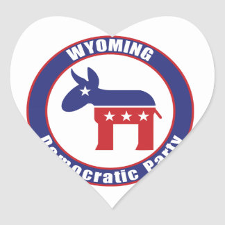 Wyoming Democratic Party Heart Sticker