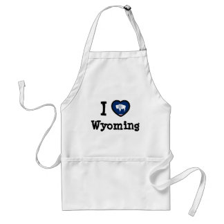 Wyoming Flag Adult Apron