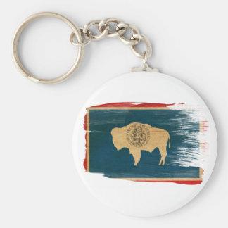 Wyoming Flag Key Ring