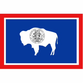 Wyoming Flag Keychain Cut Out