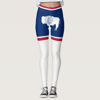 Wyoming flag leggings