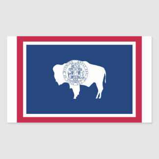 Wyoming Flag Rectangular Sticker