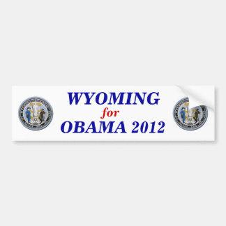 Wyoming for Obama 2012 sticker Bumper Sticker